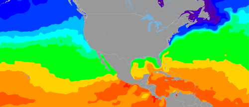 Ocean Water Temps around the United States