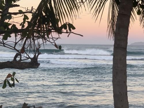 Beautiful sunrise morning at Marias Beach in Rincon, Puerto Rico